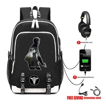 Anime Backpack School kawaii cute Psycho-Pass backpack multifunction USB charging Men women travel Laptop backpack teenagers student School book Bags AT_60_4