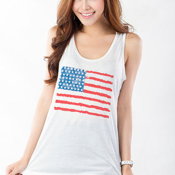 American Flag T Shirt Tank Tops Women Workout Tank Fitness Shirt Tumblr Graphic Tee Gifts Swag Fashion Teenager Instagram Shirt