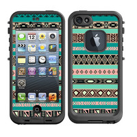 Skins FOR Lifeproof iPhone 5 Case - Turquoise Blue Pink Aztec Black Tan Pattern Indian Tribal - Free Shipping - Lifeproof Case NOT included