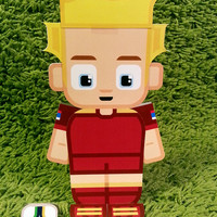 Russia football soccer craft activity. Printable paper toy. Instant download. Make you own cards, banners and football soccer bunting!