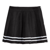 Short Pleated Skirt - from H&M