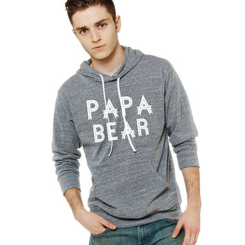 Papa Bear Light Weight Hoodie. made by Think Elite