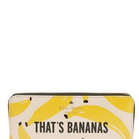 kate spade new york 'that's bananas - lacey' zip around wallet | Nordstrom