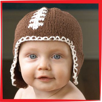 Football Hat Brown for 1-2 yrs