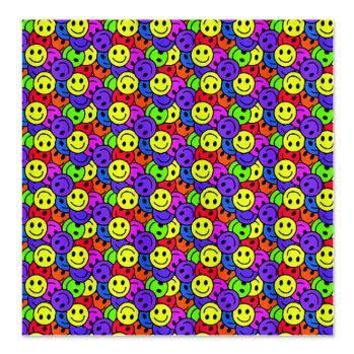 Rainbow Smiley Face Pattern Shower Curtain> Rainbow Illustration Gifts> Hippy Gift Shop Funky Hippie Gifts