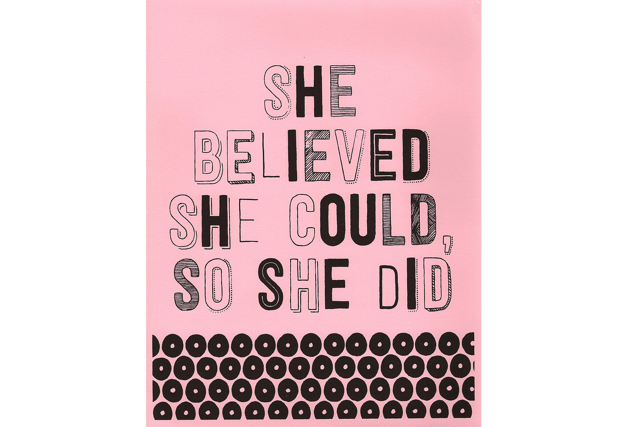 Pink So She Did From One Kings Lane Home Decor Prints