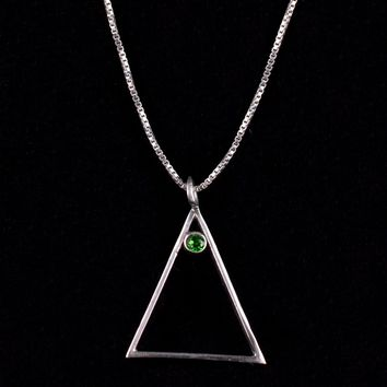 Christmas Tree Sterling Necklace