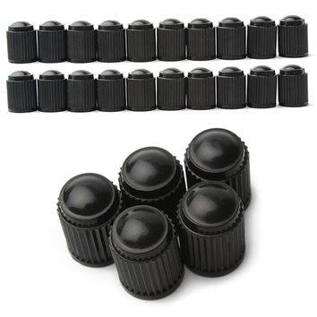 Black 20PCS Car Wheel Tire Valves Tyre Stem Air Caps Airtight Cover For Car Dust Prevention And Protection #iCarmo