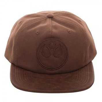 Star Wars Rebel PU Leather Patch Wax Canvas Snapback