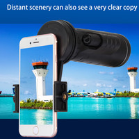 Universal 10x40 Hiking Concert Camera Lens Monocular Zoom Phone Telescope Camera Lens Phone Holder + Clip For Smartphone