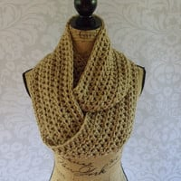 Ready To Ship Infinity Scarf Large Light Brown Taupe Women's Accessory Infinity Scarf