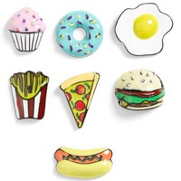 Topshop Fast Food Brooches (Set of 7) | Nordstrom