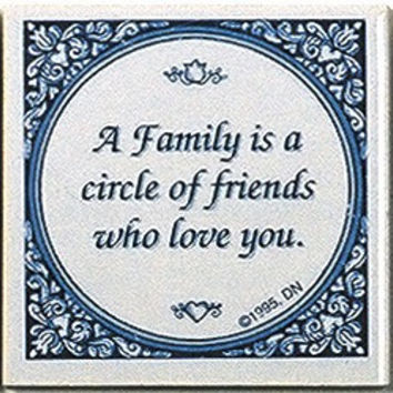 Inspirational Wall Plaque: Family Circle Friends..
