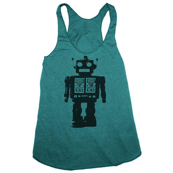 Womens FUTURISTIC ROBOT american apparel TriBlend by happyfamily