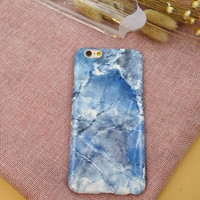 Unique blue marble mobile phone case for iphone 6 6s 6 plus 6s plus + Nice gift box 71501