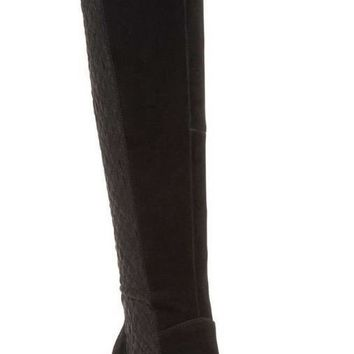 Over-the-Knee black Tall Boots, Size 6