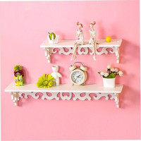 PVC Board White Carve Display Wall Shelf Rack Storage Ledge Home Decor S/M/L pj9