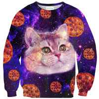 Heavy Breathing Cat Pizza Sweater