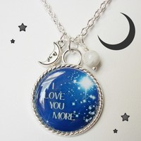 Beautiful I Love You More Charm Necklace