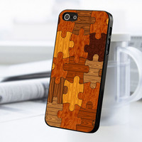 Wood Puzzle iPhone 5 Or 5S Case