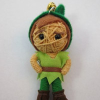 1 X Peter Pan Cute Voodoo String Doll Keychain NEW