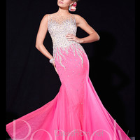 Sabrina Beaded Accent Mermaid Prom Dress By Panoply 14674