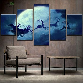 PENGDA Frames HD Print Canvas Painting On Oil Paintings Wall 5 Panels Cartoon Landscape For Living Room Cuadros Pictures