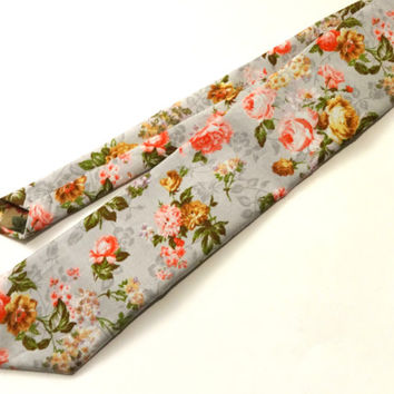 Floral Necktie, Man Necktie, Man Floral Tie, Mens Tie, Wedding Tie, Wedding Necktie