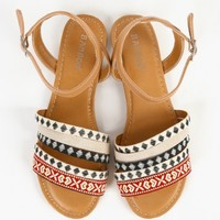 Bamboo Cope-97x Ankle Strap Tribal Sandals | MakeMeChic.com