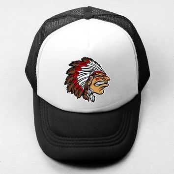 Sports Hat Cap trendy  Native American Indian Character Pattern Baseball Cap Men Women The Evolution of Man s Snapback Trucker Caps Hip Hop KO_16_1