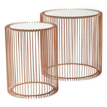 Set Of Copper Wire Side Tables