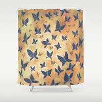 Iron Butterflies Shower Curtain by RokinRonda