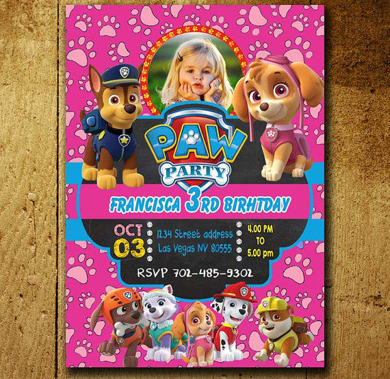 Shop Paw Patrol Birthday Invitations On Wanelo