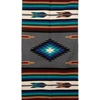 The High Country Large Weaved Rug - Grey