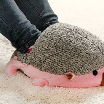 Hedgehog Baby USB Heating Shoes Warmer -- Pink