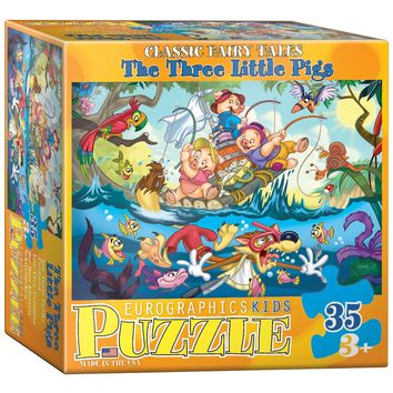 The Three Little Pigs - 35 Piece Jigsaw Puzzle