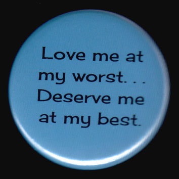 Best and Worst and Love Button by kohaku16 on Etsy