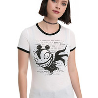 The Nightmare Before Christmas Scary Teddy Girls Ringer T-Shirt