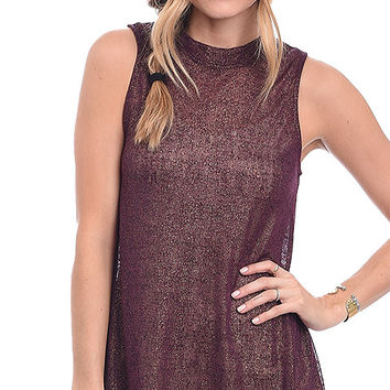 Shine Bright Mock Neck Tunic Top