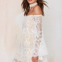 Wanderer Lace Dress - White