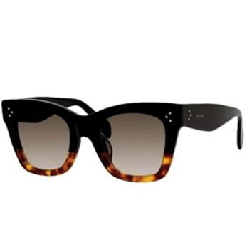 CELINE CATHERINE CL 41098 S - BLACK AND HAVANA - FREE 2 DAY SHIPPING