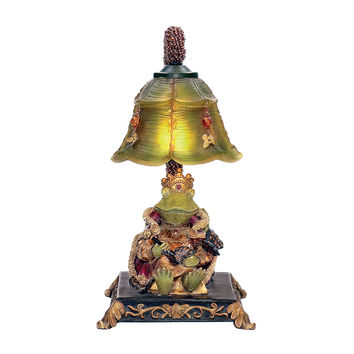 91-331  Resting Queen Frog Mini Accent Table Lamp