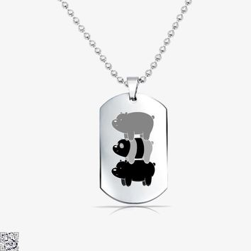 Bear Stack, We Bare Bears Tag Necklace