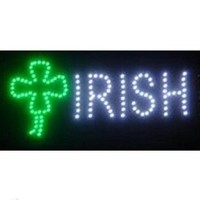 "Irish Bar LED Sign 19"" X 10"" [Bright] [Flashing] [On/off Switch]"