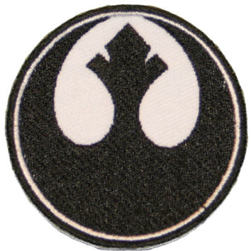 STAR WARS Patch Iron on Rebel Alliance BLACK Starbird Rogue Symbol Insignia 2""