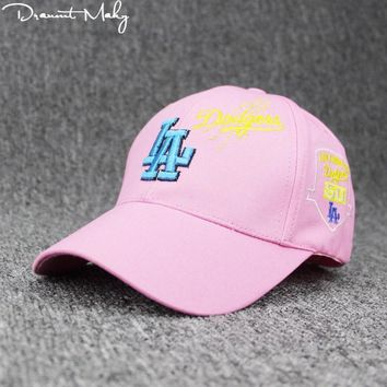 Trendy Winter Jacket Fashion Children Letter LA Hip Hop Cap Boy Girl Snapback Cap Hat Female Kids Baseball Cap Bone New Adjustable embroidery Unisex AT_92_12