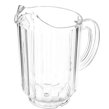 Tablecraft 364 60 Ounce Clear Polycarbonate Pitcher