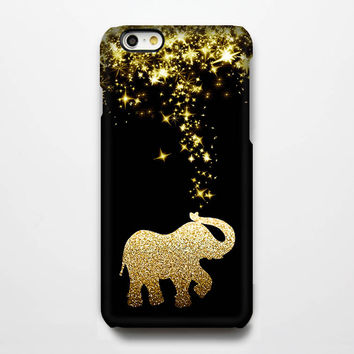 Gold Glitter Stars Elephant iPhone 6 Case/Plus/5S/5C/5 Teen Protective Case #272
