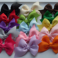 20 1.00  Pinwheel Hair Bows with Bonus Crochet Headband , LOT of 20 Hair Bows, Quality Bows  Baby/Toddler/Girl Bows Great Party Favors