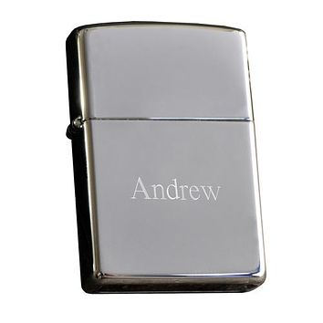 Zippo Polish Chrome Lighter Free Engraving